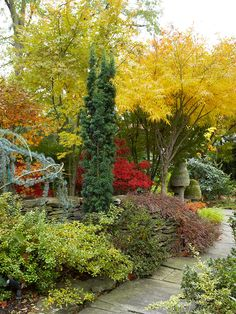 Layer Plants? Fall Landscaping Ideas See how two great gardeners -- one on the East Coast and one on the West -- created knock-your-socks-off fall yards --