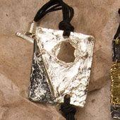 Bracelet~Enamelled Silver/Black Rectangular Bracelet~Fair trade through Folio Gothic Hippy~BR328