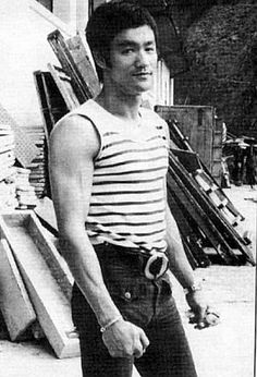 Brucie, photo from his time on the set of Way of the Dragon, his only completed directorial effort.