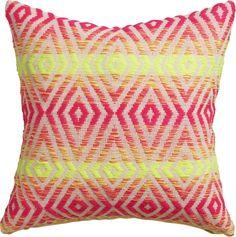 neon prism pillow - CB2