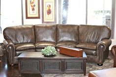 Handmade By Master Craftsmen – 6748 Custom Leather Sofas, Love Seats, And Lounge Chairs Made From The Finest Quality Full Grain Leather And Natural Materials Fine Art Quality Designs By Award Winning Artist H. Nick, Made In The USA By Master Craftsmen Sofa Couch, Couch Set, Custom Sofa, Custom Furniture, Small Corner Couch, Curved Couch, Country Sofas, Italian Leather Sofa, Leather Living Room Set
