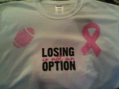 I made this football shirt for my son to wear for his float, Breast Cancer Awareness
