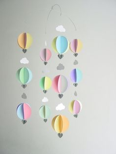 Baby Mobile-Hot Air Balloons & by youngheartslove on Etsy
