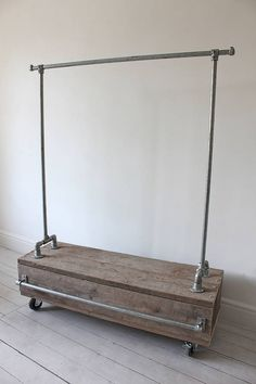Clothes Rail With Reclaimed Wood Drawer - possible diy?