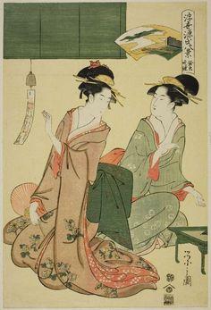 浮世源氏八景 鈴虫晩鐘 Suzumushi no bansho, from the series Eight Views of Genji in the Floating World (Ukiyo Genji hakkei)