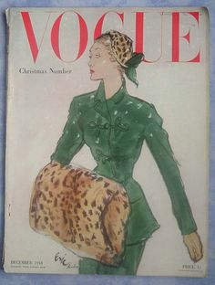 British Vogue December 1948 Christmas Number, cover by Eric (Carl Erickson)
