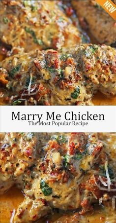 Marry Me Chicken, the foremost popular recipe - Health care - Chicken Dinner Recipes Meat Recipes, Cooking Recipes, Healthy Recipes, Healthy Cooking, Health Chicken Recipes, Diner Recipes, Grilled Steak Recipes, Cooking Cake, Salads