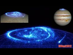 UFO Sightings Hotspot: Hubble photographs stunning photos of Jupiter's giant auroras, The gas giant has put on a beautiful light show in the form of auroras the size of Earth at its north pole. The Hubble Space Telescope captured the display.  Unlike the auroras here on Earth, which show up as visible light, Jupiter's electric blue whirl is ultraviolet, so you wouldn't be able to see it as depicted in the composite image above. But Hubble is able to capture the incredible detail.  Auroras…