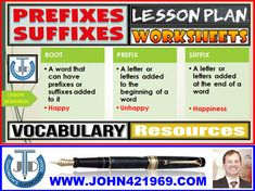 PREFIXES AND SUFFIXES: LESSON AND RESOURCES