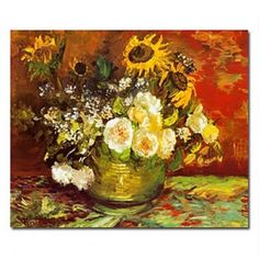 Hand-painted Famous Oil Painting with Stretched Frame 20 x 24 by Van Gogh - WallArtBox