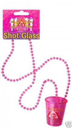 Shot glass necklace for party bags NEW-HEN-NIGHT-PARTY-ACCESSORIES-GIRLS-NIGHT-OUT-NOVELTY-ITEMS-BRIDE-TO-BE-GIFTS