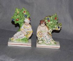 English Staffordshire Pearlware Figures God Goddess | eBay