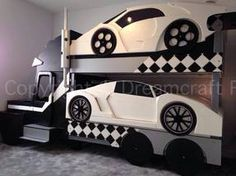 Lamborghini, car bed, racing car bed, themed bed, boys bed, girls bed, cool bed