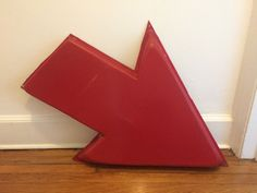 "SUNOCO SIGN Arrow Red Plastic Gas Station Original ~ Huge 36"" Long! #SUNOCO"