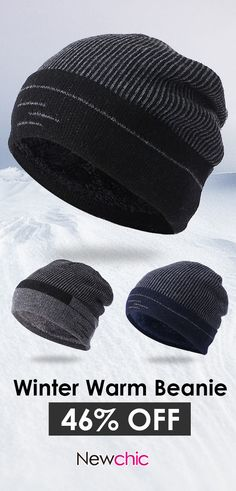 6620ed4b3ad Mens Thick Wool Velvet Knitted Hat  outdoor  winter  hat  menswear Mens  Beret