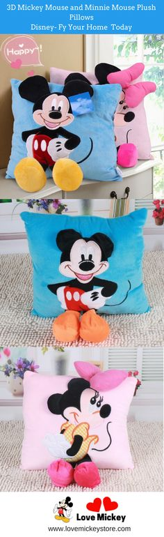 Do You Love Mickey? Get this Mickey and Minnie plush pillows today (sold separately) and Disney-fy your home. SALE get 50% OFF! for a limited time only and for the first 100 customers there is a further 10% OFF! - ENTER CODE: mickeypillows at checkout to claim yours.