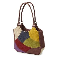HEMP PATCHWORK HANDBAG | Handmade Hemp Fabric Purse | UncommonGoods