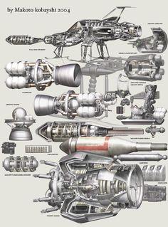 小林誠 Makoto Kobayashi SHADO Interceptor - Rocketumblr