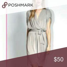 Costello Tagliapietra Wrap-dress Ultra feminine draped grecian style wrap dress. Color is closer to a moody chsrcoal Dresses Midi