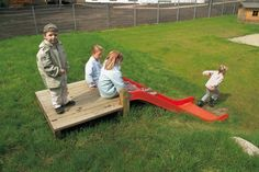 Slope slide for backyard!