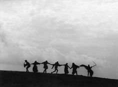"""""""The Dance of Death"""" from The Seventh Seal, cinematography by Gunnar Fischer, 1957"""