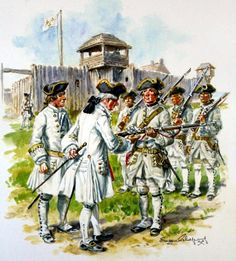 French line infantry garrison of a frontier fort in North America, Seven Years War