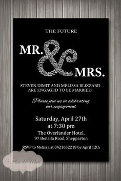 Hey, I found this really awesome Etsy listing at http://www.etsy.com/listing/164356778/engagement-party-invitation