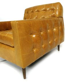 Edward Wormley, Leather Club Chair for Dunbar, 1950s. My Furniture, Furniture Upholstery, Modern Furniture, Furniture Design, Leather Club Chairs, Leather Sofa, Scandinavian Furniture, Chesterfield Sofa, Upholstered Sofa