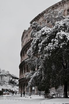 Rome-The heart of the Mediterranean region under snow