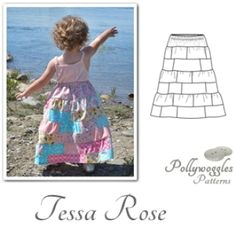 Tessa Rose Patchwork Skirt - by Pollywoggles | YouCanMakeThis.com