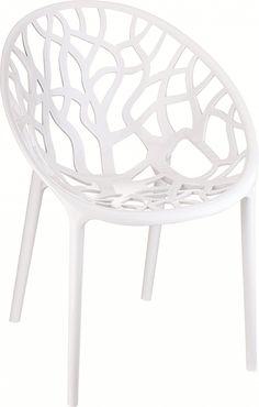 Deze moderne kunststof design stoel is een eye catcher voor in huis,op kantoor of in de tuin. Een praktische kunststof stoel...