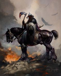 Death Dealer by Frank Frazetta, Image via https://www.nerdist.com