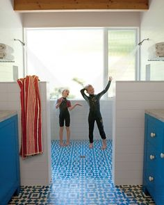 Double shower   love this for a kids bathroom