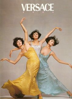 80s-90s-supermodels:    Versace A/W 1995Models : Shalom Harlow, Amber Valletta & Trish Goff  ( Source : The Fashion Spot )