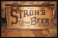 Dossin Great Lakes Museum: Stroh's Beer Case--Detroit MI by pinehurst19475