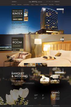 hotel website DCafeIn Website - Daemyung The MVL Design Hotel, Hotel Website Design, Web Layout, Layout Design, Property Ad, Luxury Bar, Wordpress Theme Design, Web Design Services, Ui Web