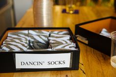 Want to ensure your guests get their dance on at your wedding?  Set out a basket of fluffy, cozy socks for dancing!