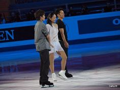 Takahiko Kozuka,Miki Ando and Daisuke Takahashi(JAPAN) 2011 Moscow World Figure Skating Championships