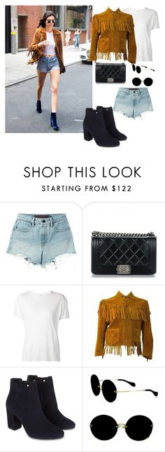 """Sin título #1763"" by nurinur ❤ liked on Polyvore featuring T By Alexander Wang, Chanel, R13, Monsoon and Miu Miu"