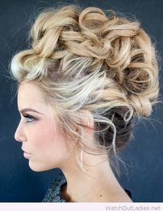 Awesome faux hawk updo