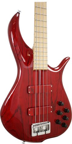 Fbass BN-4 / Fretted Series / Trans Red Swamp Ash Body, Maple Board..