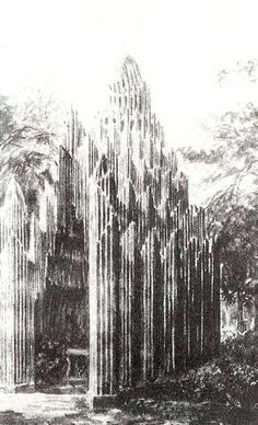 1921 design for Wayside Chapel by Hans Poelzig