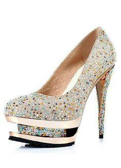 Élégantes chaussures de bal   soirée   mariage Noires aspect en satin  Pompes talon aiguille à. Pumps SaleGold PumpsCrystal ShoesFab BagKiller  HeelsWedge ... d6b95c387e08