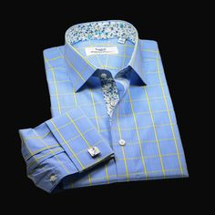 Formal Shirts For Men, Business Dresses, Egyptian Cotton, Dress Shirts, Fabric Material, Formal Dress, Blue Yellow, Paisley, Men's Fashion
