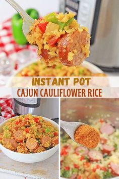 Instant Pot Cajun Cauliflower Rice is a healthy, low-carb dish you'll love serving the whole family. It's ready in minutes in the pressure cooker and full of bold flavors that will have everyone wanting more! #instantpotrecipes #pressurecookerrecipes #cauliflowerrice #lowcarb #keto Fruit Recipes, Lunch Recipes, Vegetable Recipes, Easy Dinner Recipes, Instant Pot Pressure Cooker, Pressure Cooker Recipes, Side Dish Recipes, Original Recipe, Tasty Dishes