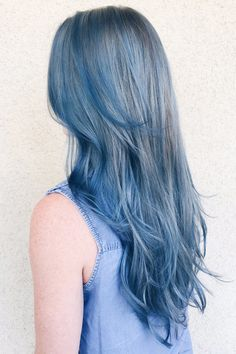 Slate blue hair is perfect for this winter! Now that winter is here, I thought it would be fun to showcase some of my favorite shades of winter hair color.