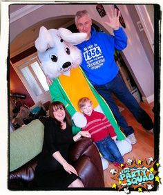 Easter Bunny Visits with The Party Squad! http://www.thepartysquad.co.uk/ http://www.facebook.com/ThePartySquadUK/