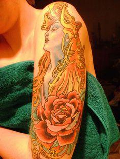 Art Nouveau Tattoo - Mucha