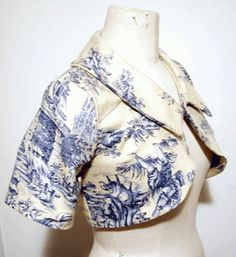 Consider a Toile jacket to wear outside or for pictures