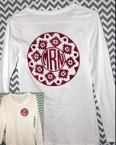 Aztec Monogram Circle Glitter Vinyl Shirt Toddler / by CountryCutz
